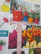 Textil - látka jarné tulipány - 10316264_