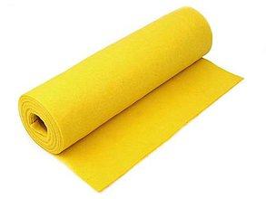 Textil - Filc-metráž, šírka 41 cm (žltá) - 10315579_