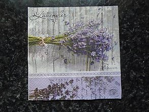 Papier - kytica z levandule - 10318850_