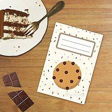 Papiernictvo - Sladká stracciatella poznámkovník - cookie - 10318739_