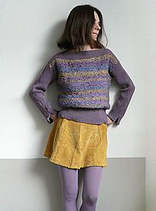 Svetre/Pulóvre - fialkový pulover - 10318041_