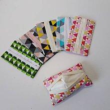 Taštičky - obal na vreckovky triangel - 10320409_