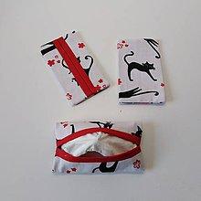 Taštičky - obal na vreckovky mačka - 10320747_