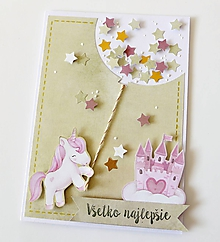 Papiernictvo - pohľadnica s jednorožcom - 10320327_