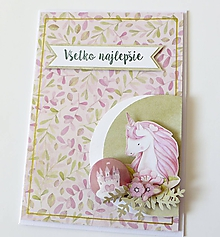 Papiernictvo - pohľadnica s jednorožcom - 10320334_