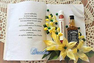 Dekorácie - Gratulačná kniha Cigara - 10321239_