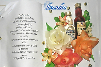 Dekorácie - Gratulačná kniha DUO oranžová - 10322499_