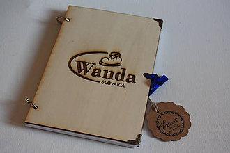 Papiernictvo - Drevenný zápisník - logo firmy - 10320685_