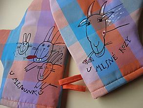 Úžitkový textil - veselé chňapky - 10323005_