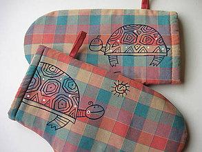 Úžitkový textil - chňapky s želvami - 10323089_