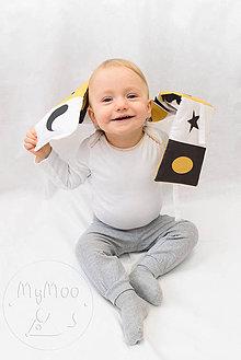Hračky - Textilní leporelo - žltá - 10322250_