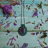 Náhrdelníky - Achátový n.12 - šitý náhrdelník  - 10321178_