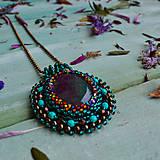 Náhrdelníky - Achátový n.12 - šitý náhrdelník  - 10321180_