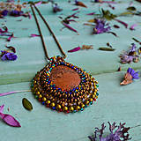 Náhrdelníky - Jaspisový n.8 - šitý náhrdelník - 10321198_