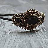 Ozdoby do vlasov - Vintage black&copper headband - 10321349_