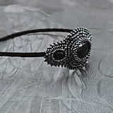 Ozdoby do vlasov - Vintage black&hematite headband - 10321443_