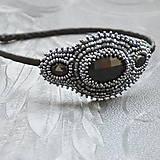 Ozdoby do vlasov - Vintage black&hematite headband - 10321444_