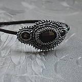 Ozdoby do vlasov - Vintage black&hematite headband - 10321445_