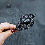 Ozdoby do vlasov - Vintage black&hematite headband - 10321451_