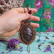 Náhrdelníky - Jaspisový n.9 - šitý náhrdelník - 10321216_