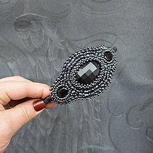 Ozdoby do vlasov - Vintage black&hematite headband - 10321452_