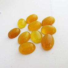 Minerály - Achát farbený / 13x18mm (Žlto-oranžový) - 10321576_
