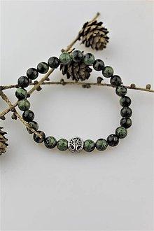 Náramky - Jaspis pánsky náramok - strom života - 10324275_