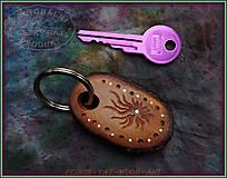Kľúčenky - 50 . DŘEVĚNÁ KLÍČENKA - Slivoňka kořen - 10323990_