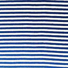 Textil - pruhovaný bavlnený úplet, rôzne farby (Modrá) - 10323850_