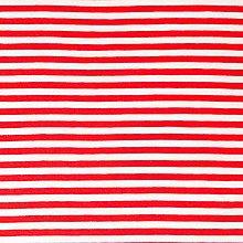 Textil - pruhovaný bavlnený úplet, rôzne farby (Červená) - 10323855_