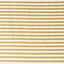 Textil - pruhovaný bavlnený úplet, rôzne farby (Oranžová) - 10323859_