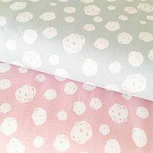 Textil - bavlnený úplet Modrosivé machuľky, šírka 150 cm - 10323882_