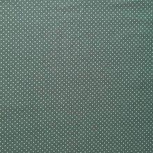 Textil - bavlnený bodkovaný úplet, šírka 150 cm (Tyrkysová) - 10324221_