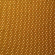 Textil - bavlnený bodkovaný úplet, šírka 150 cm (Žltá) - 10324224_
