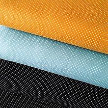 Textil - bavlnený bodkovaný úplet, šírka 150 cm (Čierno-biela) - 10324238_