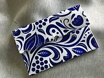 Kabelky - listová kabelka Modrý ornament - 10322422_