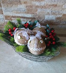 Dekorácie - Veľké prírodné vianočné gule - 10322022_