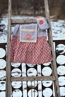 Detské oblečenie - Etno dievčenská sukňa s čelenkou - 10321712_