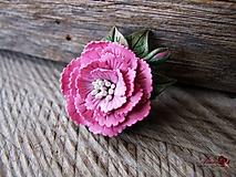 Odznaky/Brošne - Kvetinová brošňa - 10320487_