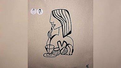 Iné tašky - ♥ Plátená, ručne maľovaná taška ♥ - 10320371_