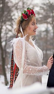 Ozdoby do vlasov - Svadobná parta na zimnú svadbu - 10321416_