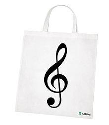 Iné tašky - Taška s hudobným symbolom (husľový kľúč) - 10320667_