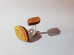 Šperky - manžetové gombíky mahagón 2 de luxe - 10323075_