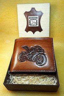Peňaženky - Kožená peňaženka - 10324426_