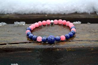 Náramky - Lapis Lazuli, Jadeit, striebro náramok - 10320269_
