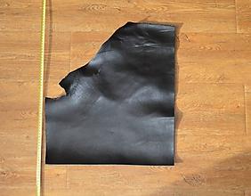 Suroviny - Zbytková koža čierna - 10321935_