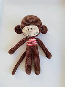 Hračky - Vlnený triumvirát (Opička Róbert) - 10320999_