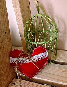 Textil - Srdiečko z lásky - 10320679_