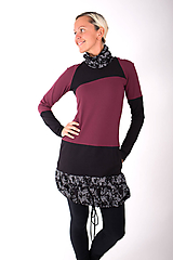 Šaty - PONT DES ARTS... mix dress/změna materiálu - 10321348_