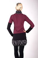 Šaty - PONT DES ARTS... mix dress/změna materiálu - 10321355_